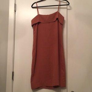 The Row Coral Slip Dress